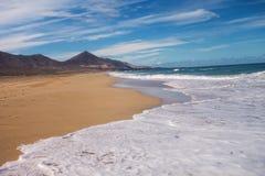 Schönheit des Cofete-Strandes stockfotos