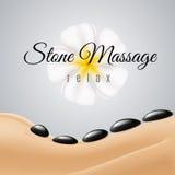 Schönheit, die Badekurort heiße Stein-Massage erhält Lizenzfreies Stockbild