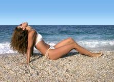 Schönheit durch das Meer Stockfotos