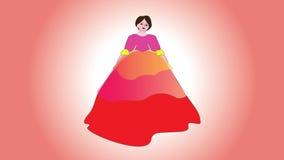 Schönheit in einem herrlichen Kleid des Balls in der Weinleseart Lizenzfreie Stockfotografie