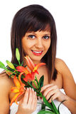 Schönheit geschossen von der jungen Frau Lizenzfreie Stockbilder