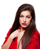 Schönheit geschossen von einer jungen schönen Frau Stockbild