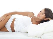 Schönheit im Bett Lizenzfreies Stockfoto