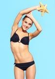 Schönheit im Bikini Stockbild