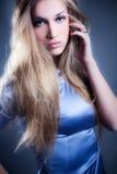 Schönheit im Blau Lizenzfreie Stockfotografie
