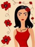 Schönheit im Rot lizenzfreie abbildung