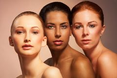 Schönheit im unterschiedlichen Aussehen Stockfoto