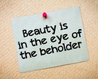 Schönheit ist im Auge des Beschauers Stockbilder