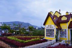 Schönheit lanscape vom Gartenberg im lembang Bandung lizenzfreie stockfotografie