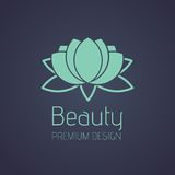 Schönheit Lotus Logo Lizenzfreie Stockfotos