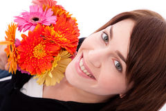 Schönheit mit Blumen Lizenzfreies Stockbild