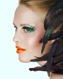 Schönheit mit den grünen Wimpern Lizenzfreie Stockfotos