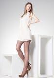 Schönheit mit den langen sexy Beinen   Stockbilder