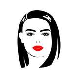 Schönheit mit Haarschnitt und Make-up Stockbild