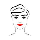 Schönheit mit Haarschnitt und Make-up Stockfotos