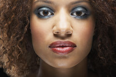 Schönheit mit Make-up lizenzfreies stockbild