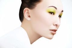 Schönheit mit Mode-Make-up lizenzfreies stockbild