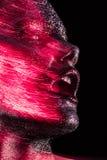 Schönheit mit rotem Funkeln Lizenzfreie Stockbilder