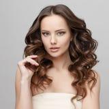 Schönheit mit sauberer frischer Haut Stockfoto
