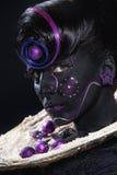 Schönheit mit schwarzem Gesicht stockfotos