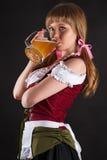 Schönheit Oktoberfest trinkt Bier Stockbilder