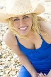 Schönheit am Strand Stockbilder