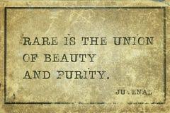 Schönheit und Reinheit Juvenal stockbild