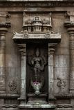 Schönheit von Lord Durga Statue - großem Tempel Thanjavur stockfotos