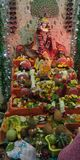 Schönheit von Lord Krishna puja stockfotos