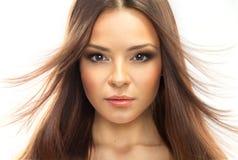 Schönheit vorbildliches Woman Face. Lizenzfreie Stockbilder