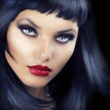 Schönheitbrunette-Portrait lizenzfreie stockfotos