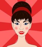 Schönheiten das Brunetteporträt Stockbild