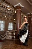 Schönheiten in der Kleidung des 18 Stockbild
