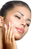 Schönheits-Badekurort-Frauen-Porträt Stockfoto