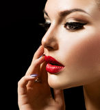 Schönheits-Frau stockfotos