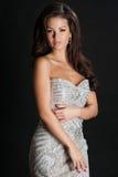 Schönheits-Frau mit perfektem Make-up lizenzfreie stockfotografie