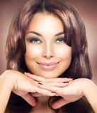 Schönheits-Frauen-Porträt Stockfotos