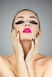 Schönheits-Frauen-Porträt Stockbild