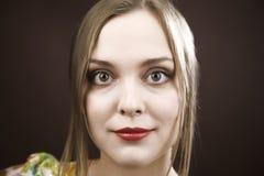 Schönheits-Frauen-Portrait stockfotos