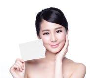 Schönheits-Hautpflegefrauenvertretung Lizenzfreies Stockfoto