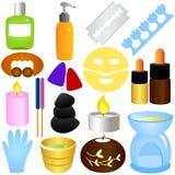 Schönheits-Hilfsmittel, Badekurort u. Entspannung Stockbild