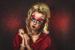 Schönheits-Karnevals-Maske Stockfotografie
