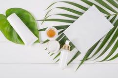Schönheits-Kosmetik eingestellt stockfotografie