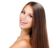 Schönheits-Mädchen-Gesicht Lizenzfreies Stockfoto