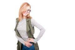 Schönheits-Mode blondes vorbildliches Girl Lizenzfreie Stockfotos