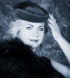 Schönheits-Mode-Frauen-Porträt. Weinlese-Art. Lizenzfreies Stockbild