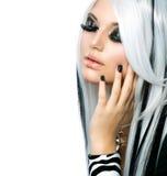 Schönheits-Mode-gotisches Mädchen Lizenzfreies Stockbild