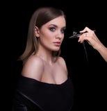 Schönheits-Mode-Modell Woman, Porträt Lizenzfreies Stockbild