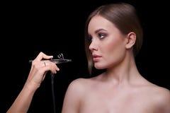 Schönheits-Mode-Modell Woman, Porträt Stockbild