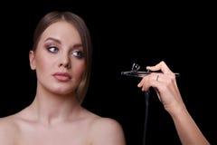 Schönheits-Mode-Modell Woman, Porträt Stockbilder